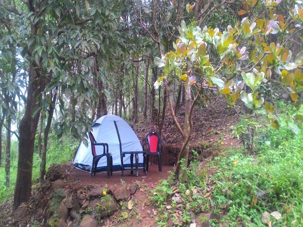 Solo/Dual Tents at ReginaSilva Camping & Nature Resort, Paithalmala with sitting area